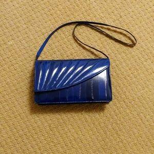 Vintage Eel skin purse color: Blue